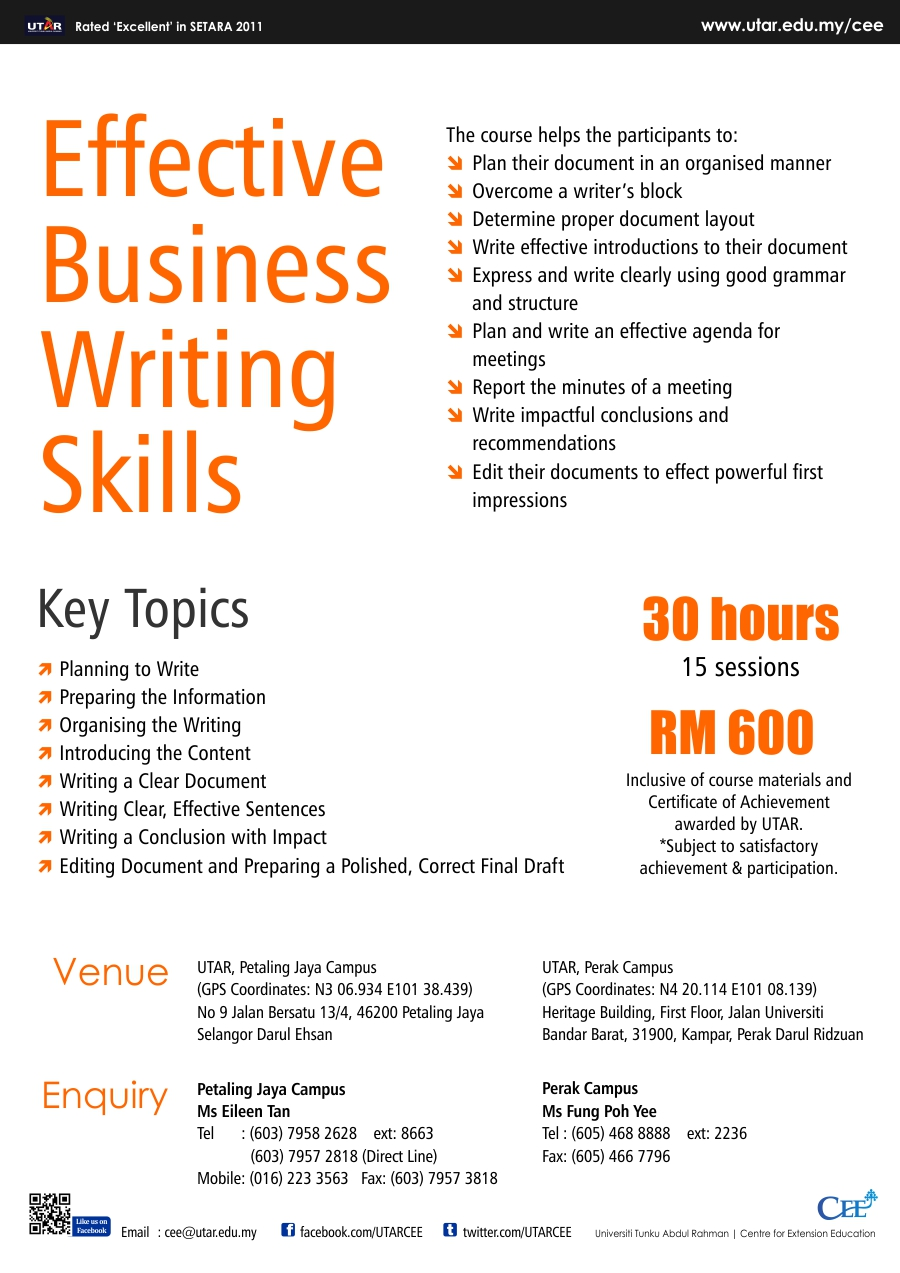Business writing services skills coursera