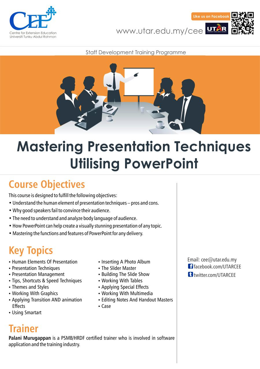 centre for extension education 2 mastering presentation techniques utilising powerpoint