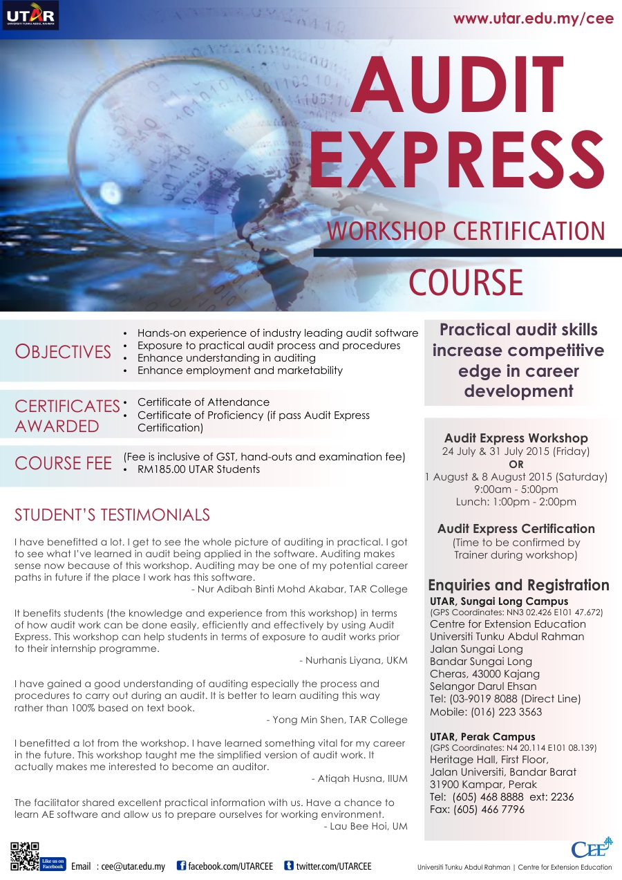 Audit Express Workshop Audit Express Workshop