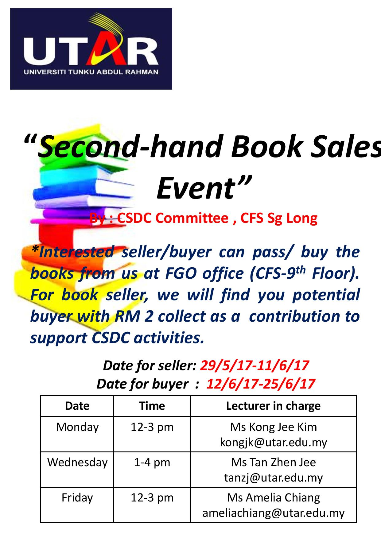 2nd hand book sales