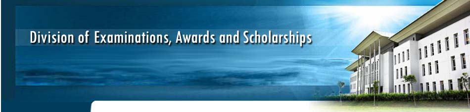 Division of Examinations, Awards and Scholarships