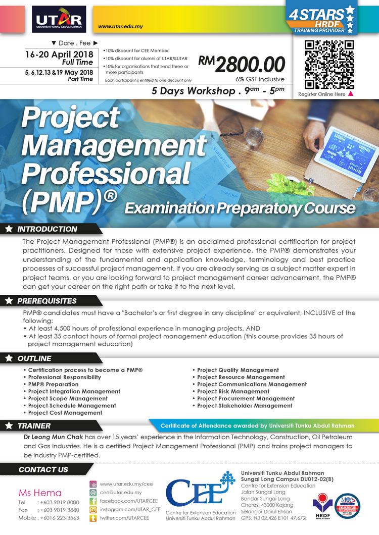 Universiti tunku abdul rahman project management professional pmpexamination preparatory course 1betcityfo Images